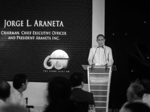 Jorge Araneta at the 60th anniversary of Araneta Center