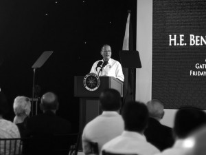 "President Aquino, who called himself a ""batang QC"", said he is one of the witnesses to the evolution of Araneta Center"