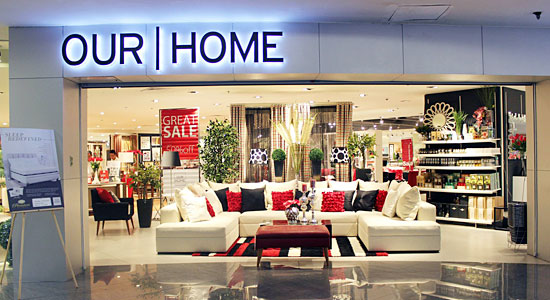 OUR HOME is one of several retail stores to be consolidated under SM Retail, Inc. -- (FACEBOOK.COM/OURHOME.PH)