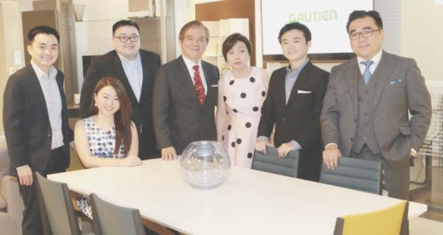 (Left to right) Sam Christopher Lim, Vice President, Francorp Philippines; Katrina Lim, General Manager, Gautier Philippines; Sam Frederick Lim, President, Blims Lifestyle Group; Samie Lim, Chairman, Blims Lifestyle Group; Carrie Lim, Executive Vice President, Blims Lifestyle Group; Sam Gregory Lim, Vice President, Blims Lifestyle Group and Sam Benedict Lim.