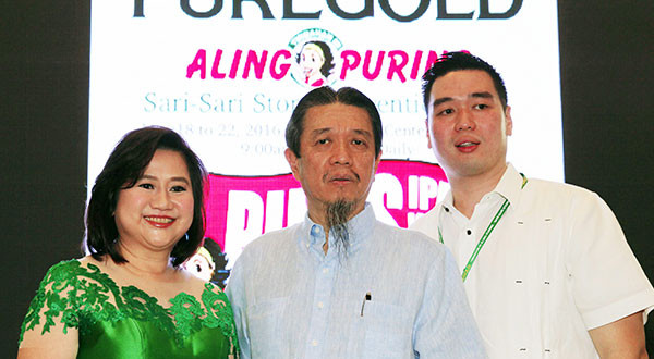 Puregold 25th anniversary: Puregold kicked off yesterday its 11th Aling Puring sari-sari convention at the World Trade Center to show support to its store owners as part of its 25th anniversary celebration. In photo (from left) are Puregold president Susan Co, chairman Lucio Co and president Vincent Co during the opening of the five-day event which runs until May 22. MIKE AMOROSO