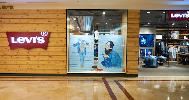 KUALA LUMPUR, MALAYSIA - MAY 09, 2016: Levi's store in Suria KLCC. Levi Strauss & Co. is a privately