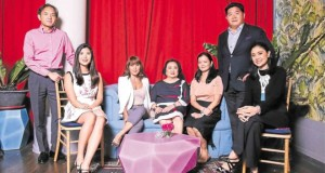 Rustan's chair and CEO Zenaida Tantoco (center) with, from left, Rustan Coffee Corp. president Noey Tantoco Lopez, Royal Duty Free merchandising manager Camille Tantoco, Sta. Elena Properties vice president for sales and marketing Katrina Tantoco Lobregat, Rustan's Flower Shop VP for merchandising Maricar Lopez Tiangco, SSI Group Inc. president Anton Huang, and Rustan's marketing communications manager Dina Arroyo Tantoco —JOHN PAUL R. AUTOR (lifestyle.inquirer.net)